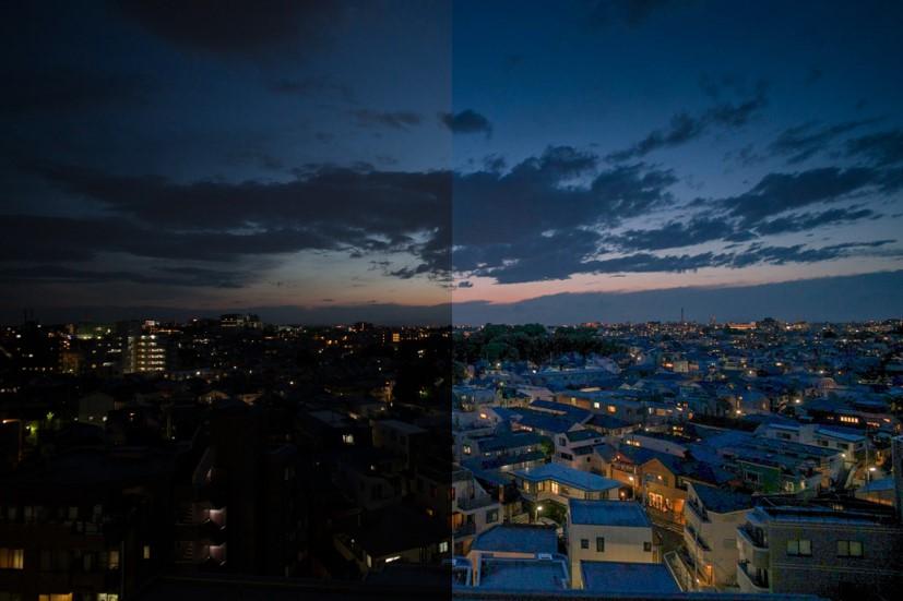 ペンタブレットを使ってレタッチした写真(夕景)